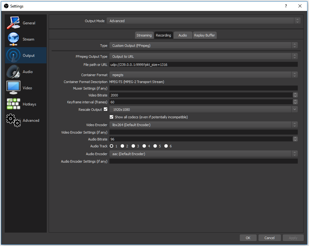Multicast Streaming to BrightSign's via OBS – BrightSign Support